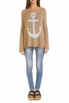 Wooden Ships Anchor Raglan Sweater Top