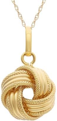 10k Gold Love Knot Pendant