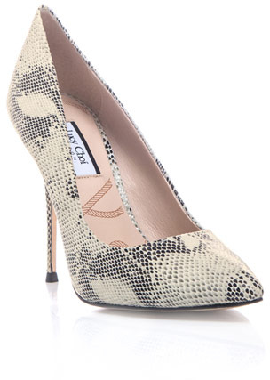 Aster Lucy Choi London Snake-print shoes