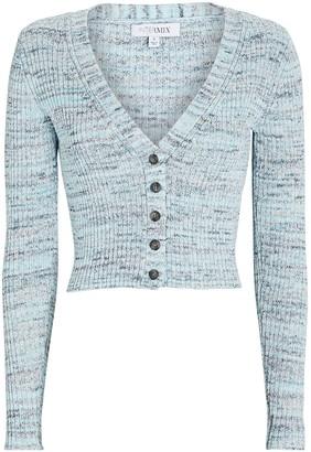 Intermix Kiera Cotton Rib Knit Cardigan
