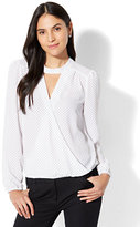 New York & Co. 7th Avenue - Mock-Neck Wrap Blouse
