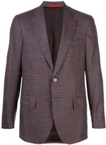 Isaia Capri Sports checked single-breasted blazer