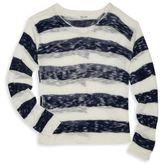 Splendid Split-Back Striped Sweater