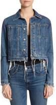 Hudson Garrison Cropped Denim Jacket
