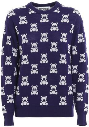 Moschino Teddy Bear Jacquard Sweater