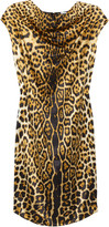 Yves Saint Laurent Leopard-print silk-satin dress