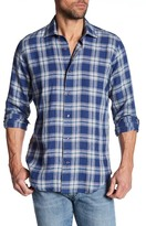 Robert Talbott Crespi III Linen Trim Fit Sport Shirt