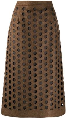 Maison Margiela Laser-Cut Midi Skirt