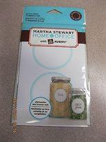 Martha Stewart W/Avery 12 White Blue Edged Round Kitchen Labels - Martha Stewart Home Office W/avery