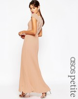 Asos WEDDING Lace Back Pleated Maxi Dress