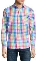 Etro Multicolored Check Sport Shirt, White Multi
