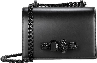 Alexander McQueen Mini Jewelled Leather Satchel