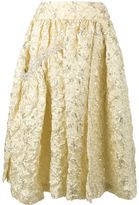 Simone Rocha embroidered flared midi skirt - women - Silk/Acrylic/Polyamide/Acetate - 6