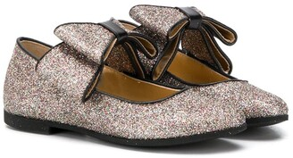 Gallucci Kids Glitter Bow Ballerinas