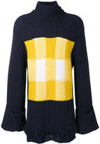 J.W.Anderson oversized patch knit jumper - men - Cotton/Acrylic/Nylon/Virgin Wool - XS