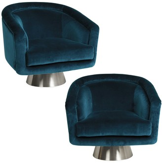 Jonathan Adler Rialto Reef Bacharach Swivel Chair Bundle