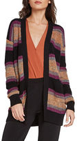 BCBGeneration Striped Open-Front Cardigan