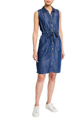 Calvin Klein Sleeveless Button-Front Denim Dress