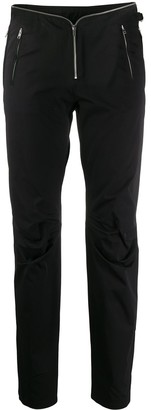 Frankie Morello Zipped Waist Slim-Fit Trousers