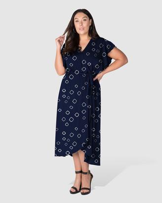 Love Your Wardrobe - Women's Black Wrap Dresses - Shine Like A Diamond Print Knit Dress - Size One Size, 18 at The Iconic