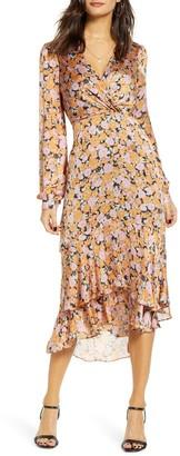 WAYF Celeste Ruffle Midi Dress