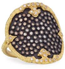 Armenta Old World Midnight Diamond Shield Ring, Size 7