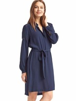 Gap Lace-trim shirtdress