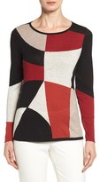 Nic+Zoe Women's Rubied Colorblock Intarsia Top