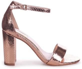 Linzi NELLY - Rose Gold Lizard Single Sole Block Heel