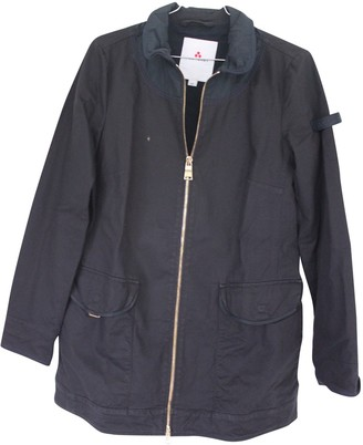 Peuterey Navy Cotton Trench Coat for Women