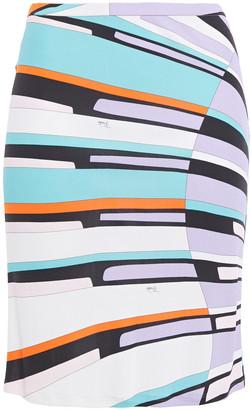 Emilio Pucci Printed Jersey Mini Skirt