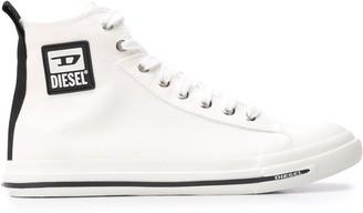Diesel D logo canvas sneakers