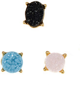 BaubleBar Estelle Druzy Stud Earrings - Set of 3