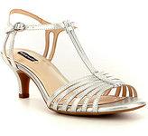 Alex Marie Lanelle Metallic T-Strap Ankle Strap Dress Sandals