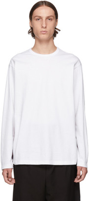 Comme des Garcons Homme White Stripe Long Sleeve T-Shirt