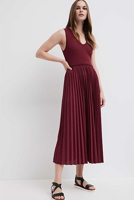 Witchery Jersey Pleat Dress