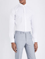 Armani Collezioni Slim-fit stretch-cotton shirt
