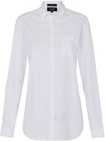 Oxford Abigail Relax Fit Shirt Wht X