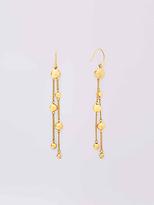 Diane von Furstenberg Gold Ball And Bead Drop Earring