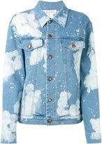 Melampo - distressed denim jacket - women - Cotton/Nylon/Polyester/Spandex/Elastane - 42