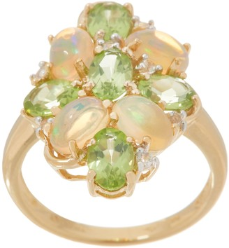 Opal and Gemstone Ring, 14K Gold