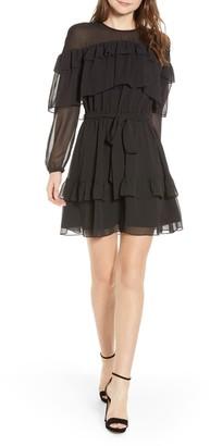 Rebecca Minkoff Portia Dot Ruffled Mini Dress