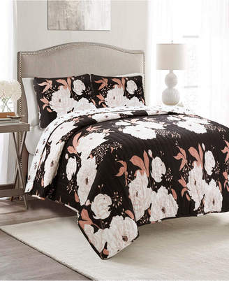 Lush Decor Zinnia Reversible 3-Piece King Quilt Set