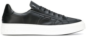 Salvatore Ferragamo textured Gancio sneakers