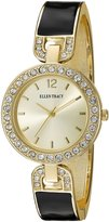 Ellen Tracy Women's Quartz Metal and Alloy Watch, Color:-Toned (Model: ET5159GDBK)