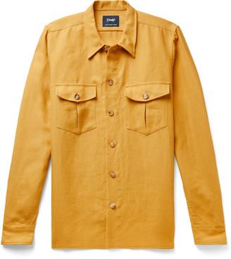 Drakes Slub Linen Overshirt
