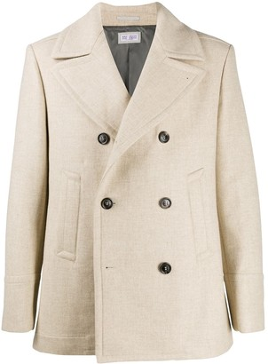 Brunello Cucinelli Knitted Double-Breasted Coat
