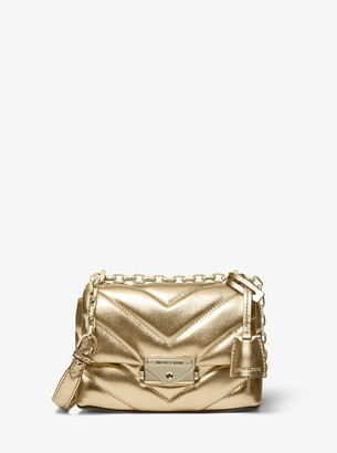 MICHAEL Michael Kors Cece Extra-Small Quilted Metallic Leather Crossbody Bag