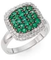 Effy Emerald, Diamond & 14K White Gold Ring