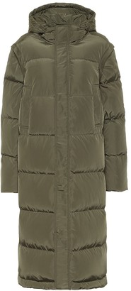 Ganni Quilted hooded down coat